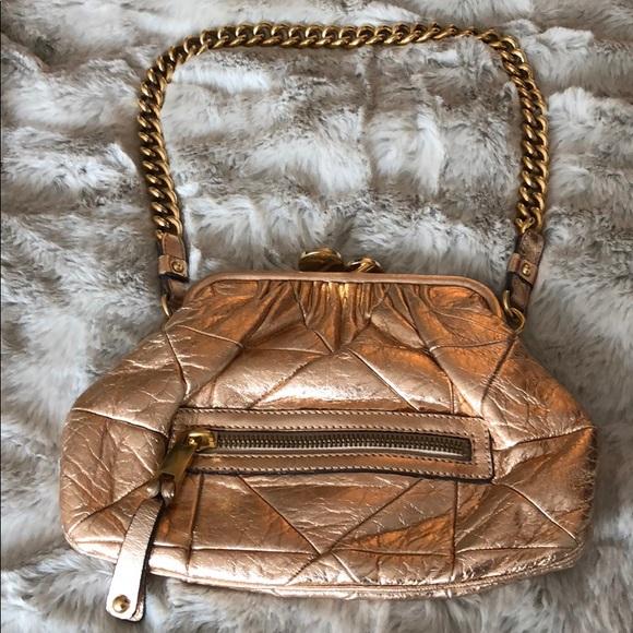 Marc Jacobs Handbags - Marc Jacobs rose gold metallic mini stam bag